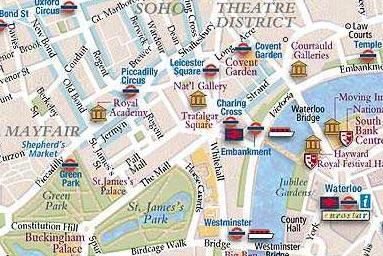 London Map Directions.Curso De Ingles Leccion 12 Pag 4
