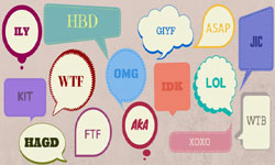 Abreviaturas, acronimos y mensajes cortos twitter whatsapp chat sms en  ingles
